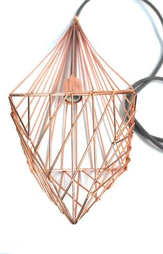 Diamond lamp by 5 am / #copper