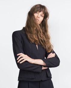 Image 1 of PINSTRIPE JACKET from Zara