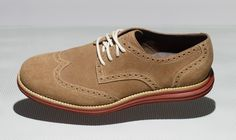 The LunarGrand Wingtip from Cole Haan featuring Nike soles looks incredibly comfortable.