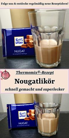 Nougat liqueur - made quickly and delicious! Thermomix® Recipe - If you like chocolate liqueurs, you will particularly like this one. The best way to enjoy this liq - Drinks Alcoholicas, Drinks Alcohol Recipes, Non Alcoholic Drinks, Summer Drinks, Cocktail Recipes, Chocolate Liqueur, Raspberry Lemonade, Like Chocolate, Schnapps