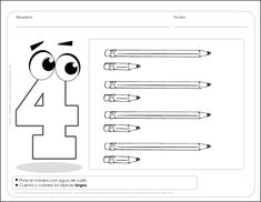 Fichas para preescolar: Repasa los números y ¡activa su pensamiento!