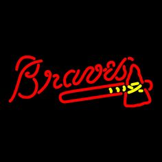 Braves neon sign. I would fill up at any gas station and eat any any restaurant that hung this.