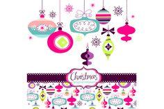 Christmas Clip Art, ornaments, balls by GraphicMarket on @creativemarket