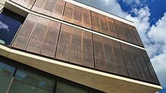 Proteus SC is an engineered panel system in either solid, perforated or expanded mesh panel formats utilising an extensive range of metals, colours, textures and forms. Description from kmearchitectural.com. I searched for this on bing.com/images