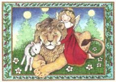 Lion & Lamb card