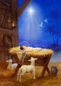 Leading Illustration & Publishing Agency based in London, New York & Marbella. Christmas Nativity Scene, Christmas Scenes, Christmas Art, Vintage Christmas, True Meaning Of Christmas, Jesus Pictures, Catholic Art, Holy Night, Bible Art