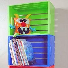 For the boys room <3 Bookshelf DIY