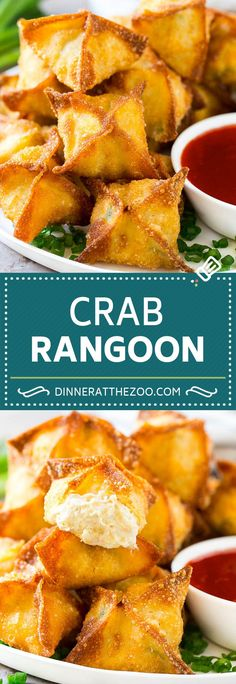 Cajun Delicacies Is A Lot More Than Just Yet Another Food Crab Rangoon Recipe Crab Wontons Cream Cheese Wontons Best Chinese Food, Authentic Chinese Recipes, Easy Chinese Recipes, Asian Recipes, Chinese Desserts, Wonton Recipes, Easy Appetizer Recipes, Seafood Recipes, Cooking Recipes