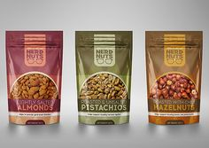 Nerd Nuts (Concept) on Packaging of the World - Creative Package Design Gallery Cereal Packaging, Fruit Packaging, Food Packaging Design, Packaging Design Inspiration, Organic Recipes, Indian Food Recipes, Healthy Recipes, Salty Snacks, Dried Fruit
