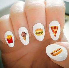 Nail Decals, Fast Food Decals, Water Transfer Nail Decals,Nail Tattoo,Fashionable Nail Art,Custom Nail Decals by ShopRisasPieces on Etsy