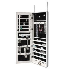 New View Over-the-Door Organizational Mirror/Jewelry Armoire (can hold up to 25 lb. of jewelry)   Bed, Bath & Beyond