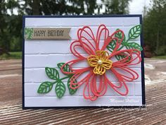 Hello Stampers!  I am excited to share this pretty card today!  When I was working on my Big Shot class project (click HERE), I came up with an idea to make a bigger flower with 3 diecuts of the flowe