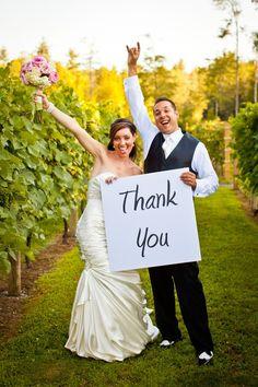 Wedding Thank You Card Idea!