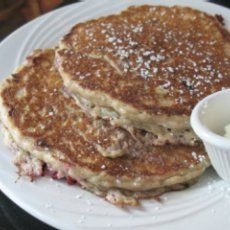 South Beach Oatmeal Pancake--these are my favorite.  Added mashed over-ripe bananas--they were awesome!!