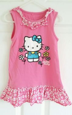 Baby #girls #george #hello kitty dress ~ size : 12-18 months,  View more on the LINK: 	http://www.zeppy.io/product/gb/2/122303496751/