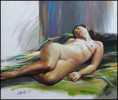 Обнаженная (х.акрил. 2018. 50х60 см) Nude, Pictures, Painting, Art, Photos, Art Background, Painting Art, Kunst, Paintings