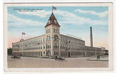 National Sewing Machine Co Factory Belvidere Illinois 1938 postcard
