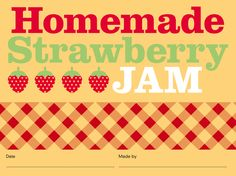 Studio Ann: Get your own Homemade Strawberry Jam label