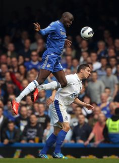 ~ Demba Ba of Chelsea FC against Phil Jagielka of Everton FC on the final day of the 2012-2013 Barclays Premier League Season ~
