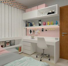 Tiny Bedroom Design, Small Room Design, Girl Bedroom Designs, Home Room Design, Home Office Design, Home Office Decor, Home Decor, Bedroom Decor For Teen Girls, Room Ideas Bedroom