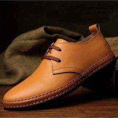 NEW-European-style-Genuine-leather-Shoes-Mens-oxfords-Casual-Dress-Shoes