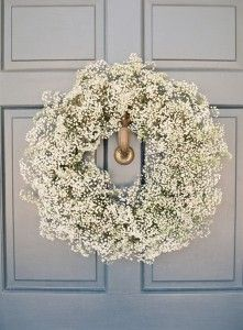 Breathtaking baby's breath wreath.  Photo by Adam Barnes.