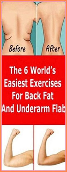 The 6 World's Easiest Exercises For Back Fat And Underarm Flab – Herbal Medicine Book Health Guru, Gut Health, Health And Nutrition, Holistic Remedies, Health Remedies, Natural Remedies, Back Fat Workout, Workout Body, Medicine Book