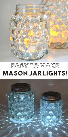 Ideas diy crafts for teen girls to sell ideas kids christmas Mason Jar Solar Lights, Mason Jar Lighting, Mason Jar Gifts, Mason Jar Diy, Ideas With Mason Jars, Diy Gifts In A Jar, Crafts With Glass Jars, Jam Jar Crafts, Diy Crafts For Teens