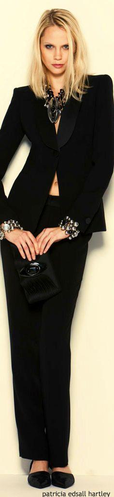 Giorgio Armani women fashion outfit clothing style apparel @roressclothes closet ideas
