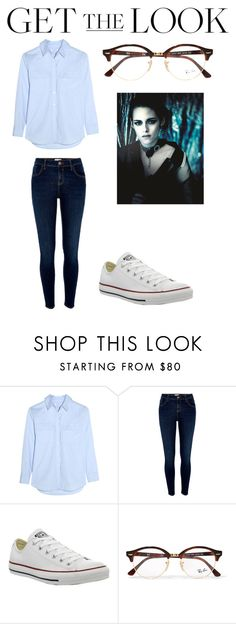 """""""Kristen Stewart STYLE II"""" by altxya on Polyvore featuring Equipment, River Island, Converse, Ray-Ban, GetTheLook and airportstyle"""