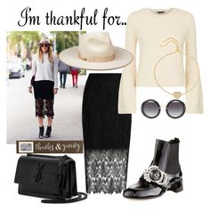 """thanksgiving"" by veronka2001 ❤ liked on Polyvore featuring Alice + Olivia, Miu Miu, Yves Saint Laurent, Mud Pie, Melissa Odabash and thanksgiving"
