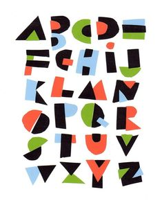 cut paper alphabet