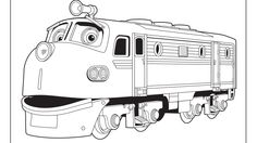 Chuggington coloring pages wilson in depot for kids for Disney chuggington coloring pages