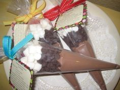 hot chocolate favors!