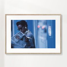 Boys dont cry from the series New York Blues - Dieter Matthes - Marco negro / 60x90 / Passepartout blanco