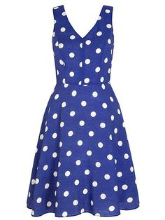 Polka Dot Print Day Dress