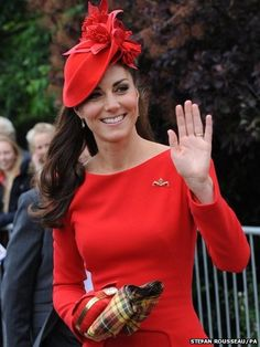The Duchess of Cambridge prepares to board the Spirit of Chartwell in McQueen! Perfect!