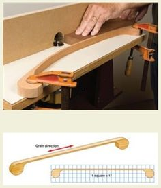 To use the springboard, clamp one end in place, flex the jig to create pressure… Router Jig, Wood Router, Woodworking Clamps, Woodworking Workshop, Woodworking Projects, Wood Tools, Diy Tools, Homemade Tools, Shop Organization