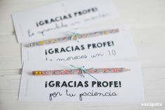 Freebie para tener un detalle con los profes | wacapaka
