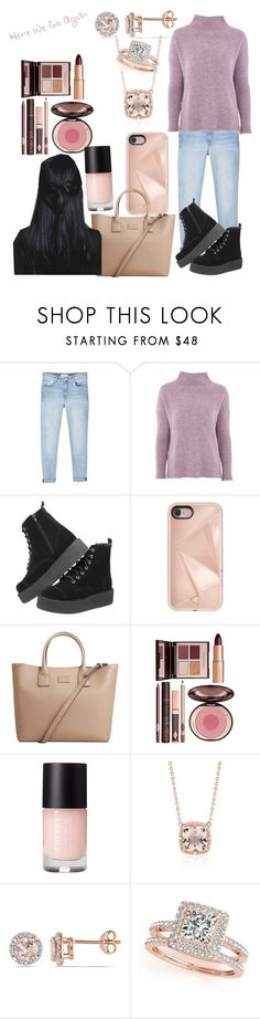 """Bloop"" by victoriacl2001 ❤ liked on Polyvore featuring MANGO, Topshop, Rebecca Minkoff, Charlotte Tilbury, Blue Nile and Allurez"