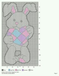 BUNNY WITH A QUILT HEART by JODY -- WALL HANGING 2/2