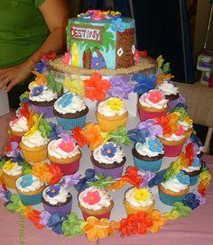 Luau cupcake idea