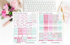 INSTANT DOWNLOAD - DIGITAL PRODUCT - NO PHYSICAL ITEM WILL BE SHIPPED!!!  This set of functional printable planner stickers are perfect for decorating the Erin Condren Life Planner and the Classic MAMBI Happy Planner. They can be used for another planners like Kikki.K and Webster`s Pages Planner. Simply print on letter sized (8.5x11) white sticker paper and cut! Each sheet measures 8,5 x 11 inches. - Print in Actual Size. Make sure that your printer doesnt re-size or fit to page to get t...