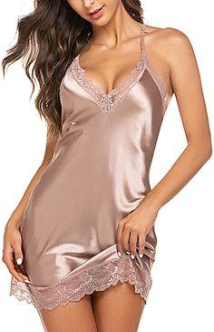 Satin Lingerie, Best Lingerie, Women Lingerie, Lingerie Drawer, Babydoll Nightwear, Satin Sleepwear, Lace Babydoll, Plus Size Underwear, Lace Nightgown