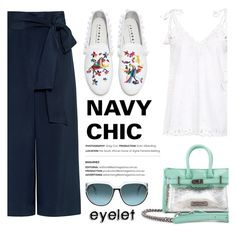 """""""Navy Chic!"""" by ifchic ❤ liked on Polyvore featuring TIBI, Theory, Joshua's, Mohzy, Steven Alan and contemporary"""