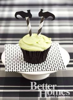 Upside down witch cupcakes
