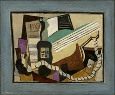 Partition, bouteille de porto, guitare, cartes à jouer 1917