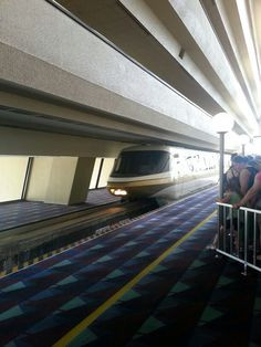 Monorail entering the Contemporary Hotel Disney World. Subvetwife5 photo