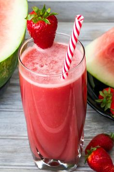 Watermelon and Strawberry Lemonade Recipe