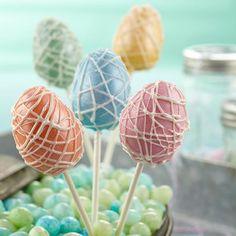 Pearlized Easter egg cake pops (via Wilton.com)